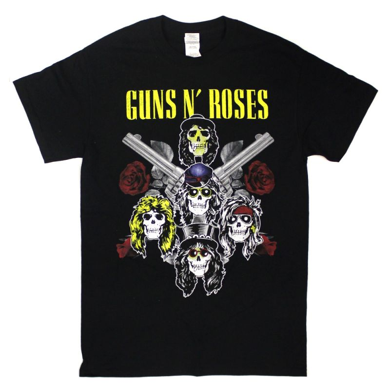 Pistols and Roses Black Tshirt