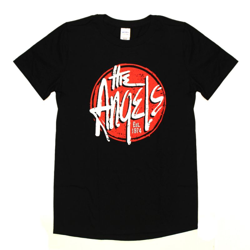Red Logo Black Tshirt