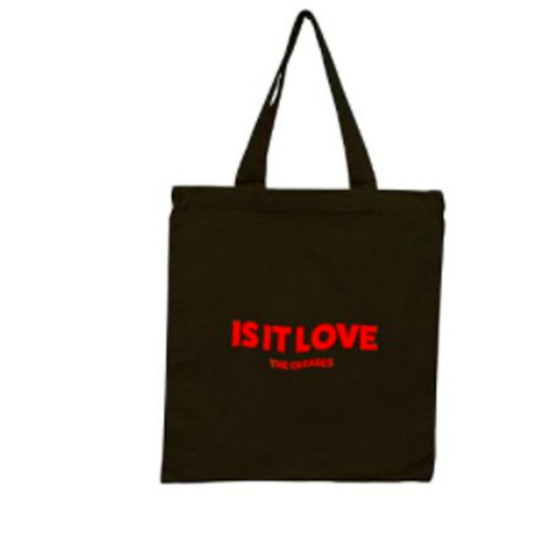 Is It Love Tote Bag Black